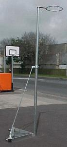 Freestanding Telescopic Netball Post-0