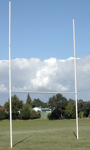 Rugby Posts Hot Dipped Galvanised - Intermediate-0