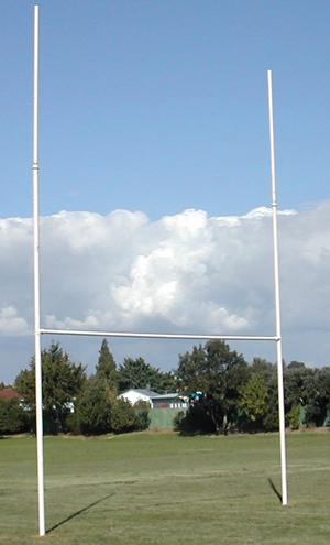 Extension Rugby Posts Galvanised 3m - Intermediate-0