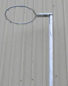 Fixed Height Netball Pole 50NB - no net hooks-0