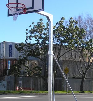 Portable Freestanding Intermediate Basketball Unit - Fixed Height-0