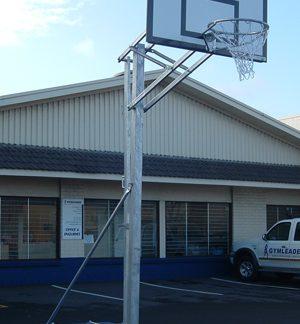 Portable Freestanding Intermediate Basketball Unit - Height Adj-0