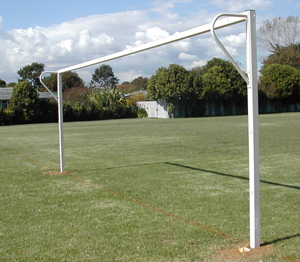 Match Soccer Goals White Powder Coat Finish- Socketed-0