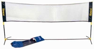 Portable Badminton Net & Post Set-0