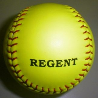 Chrome Leather Yellow Softball - Stitched-0