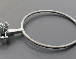 Galvanised Quick Release Netball Hoop - no net hooks-0