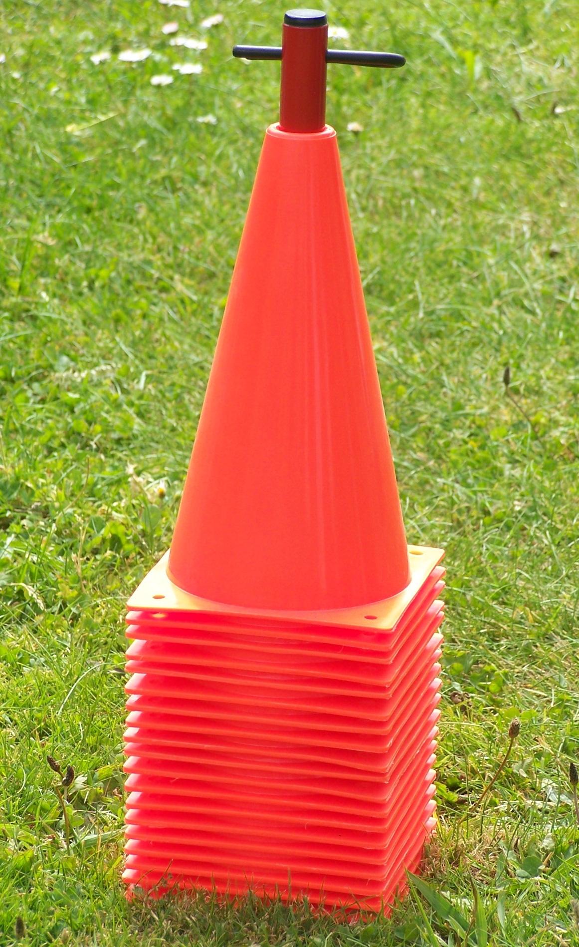 Training Cones 20 X 9 On Stand Cone Plastic Plus 0