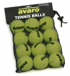 Avaro Tennis Balls x 12 with Mesh Bag-0