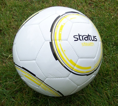 Stratus Stealth Soccer Ball - size 5, 4 & 3-0