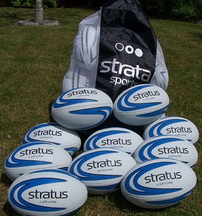 10 x Stratus Extreme Rugby Balls - size 3-0