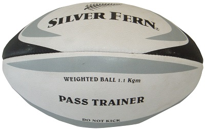 Silver Fern Weighted Rugby Ball - 1.1kg-0