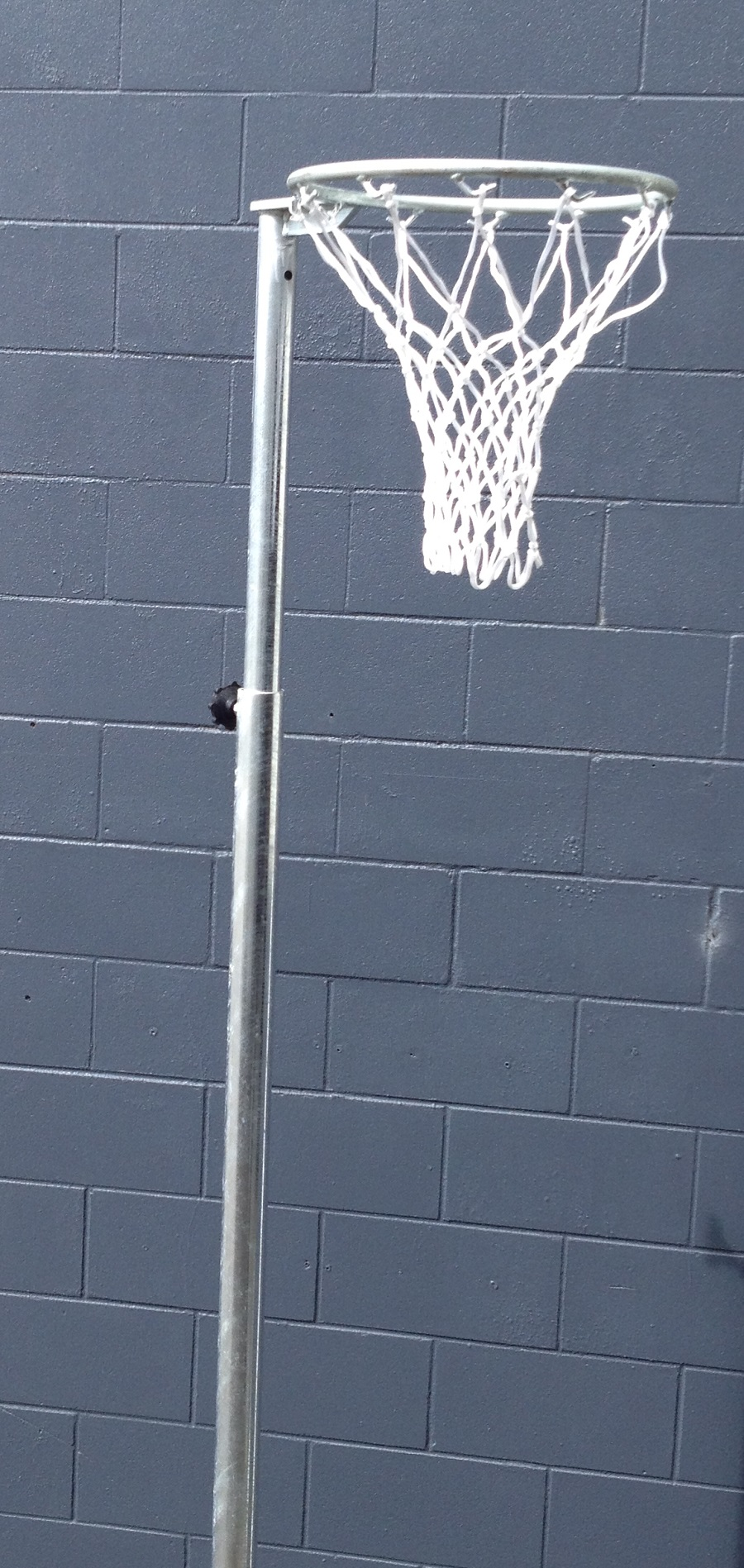 Telescopic Height 40NB Galvanized Netball Post - With Net Hooks -3473