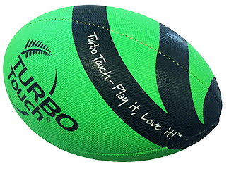 Silver Fern Turbo Touch Ball - size 3.5 green-0