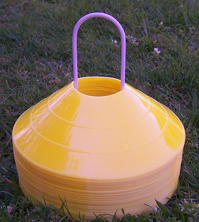 Metal Cone Holder with 40 Yellow Cones (2 inch / 50mm)-0