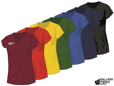 Silver Fern Sport Netball Top - 7 colours, Womens & Girls-0