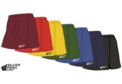 Silver Fern Sport Netball Skirt - 7 colours, Womens & Girls-0
