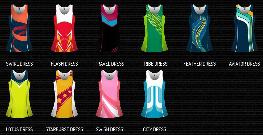 Sublimated Netball Dress - Womens & Girls-3764