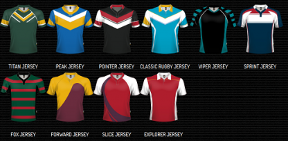 Sublimated Rugby / League Jerseys - Adults & Kids-3699