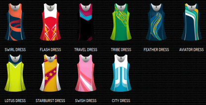 Sublimated Netball Singlet & Skort Set - Womens & Girls-3763