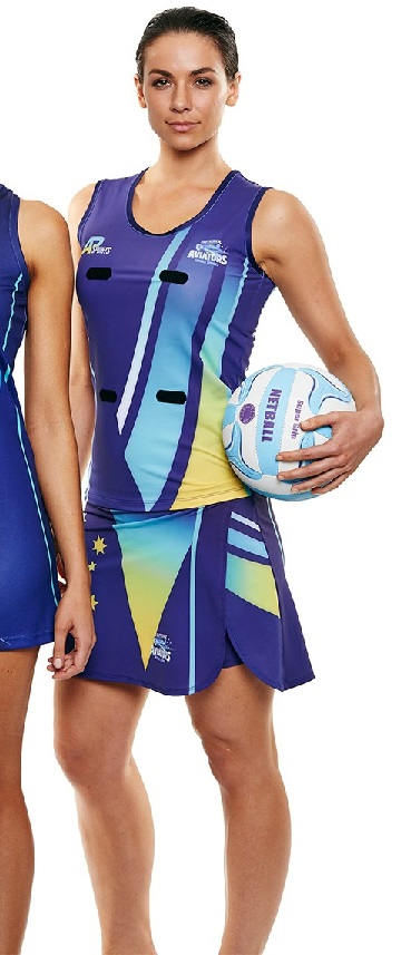 Sublimated Netball Singlet & Skort Set - Womens & Girls-3761
