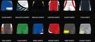 Sublimated Rugby / League Shorts - Adults & Kids-3812