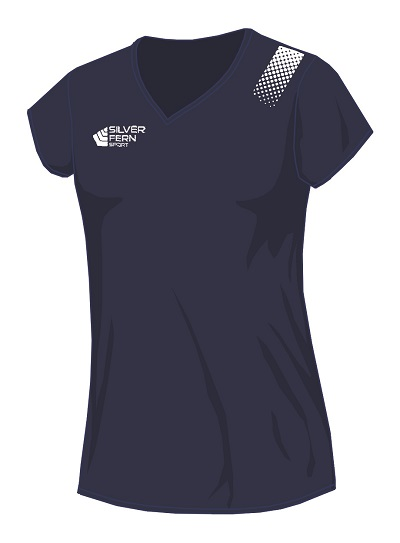 Silver Fern Sport Fern Dot Netball Top - 7 colours, Womens & Girls-0