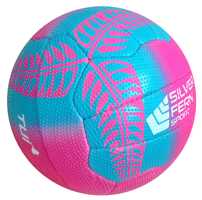 Silver Fern Tui Netball Size 4 - Pink-0