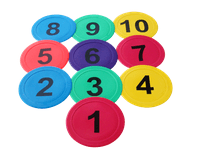10 x Marker Spots - numbered 1-10-0