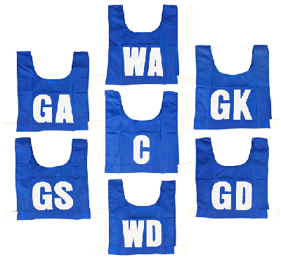 Netball Bib Set (7) - 3 sizes, 5 colours CLEARANCE PRICE!-4281